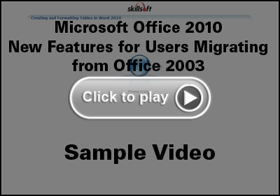 Microsoft Office 2010 Migrate Training Video
