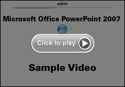 Microsoft Office PowerPoint 2007 Training Video